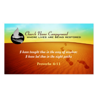 Church Campground Business Cards with Logo