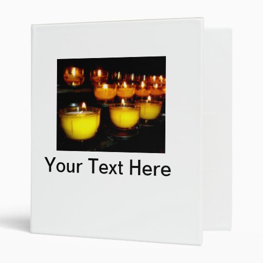 Church Candles 3 Ring Binder
