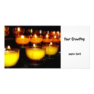 Church Candles Custom Photo Card