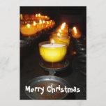 Church Candles Holiday Card
