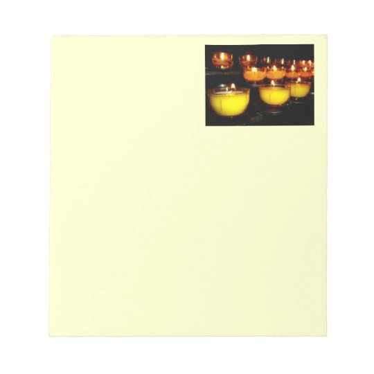Church Candles Notepad