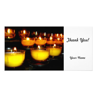 Church Candles Photo Card Template