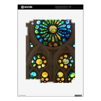 Church Cathedral Christ Wall Stained Glass Deco 99 iPad 2 Decal