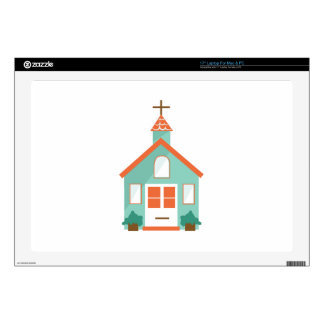 Church Chapel Decal For Laptop