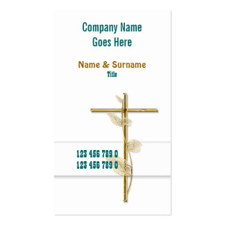 Church Christ religion cross gold Business Cards