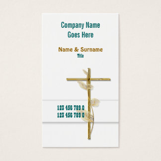 Church Christ religion cross gold Business Card