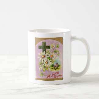 Church Christian Cross Daisy Coffee Mug
