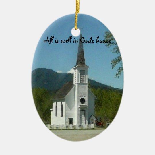 Church Christmas Ornament