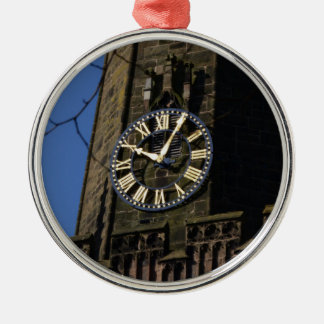 Church Clock Metal Ornament