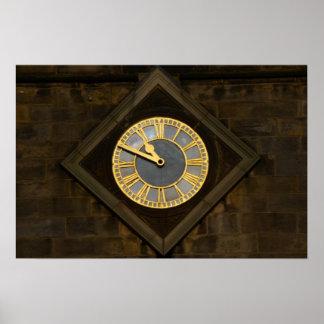 Church Clock Print