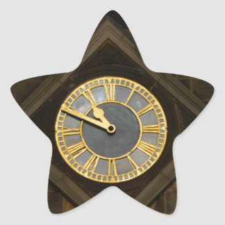 Church Clock Star Sticker
