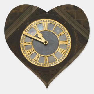 Church Clock Heart Sticker