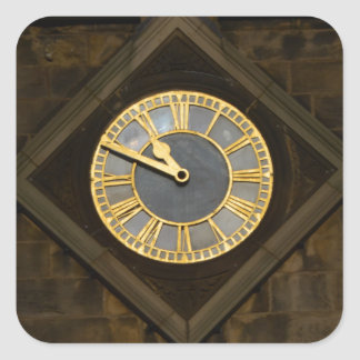 Church Clock Square Sticker