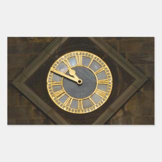 Church Clock Rectangular Sticker
