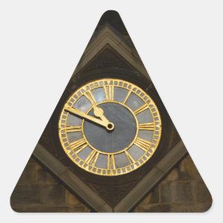 Church Clock Triangle Sticker