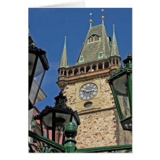 Church Clock Tower Old Town Prague(2) Greeting Card