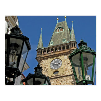 Church Clock Tower Old Town Prague(2) Postcard