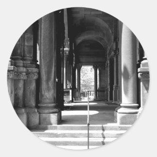 Church Colonnade Classic Round Sticker