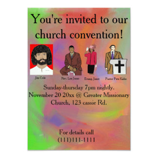 Church convention card