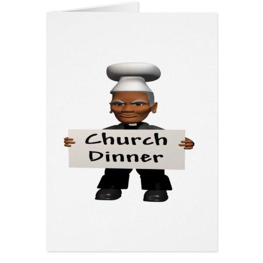 Church Dinner Greeting Card