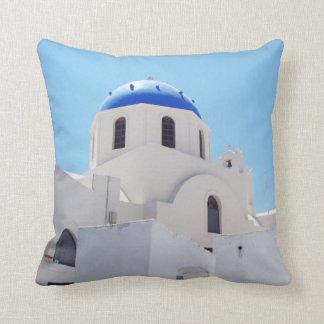 Church dome Oia Santorini Throw Pillow