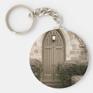 Church Door Basic Round Button Keychain
