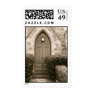 Church Door Postage Stamp