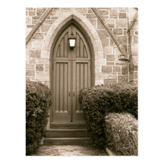 Church Door Postcard