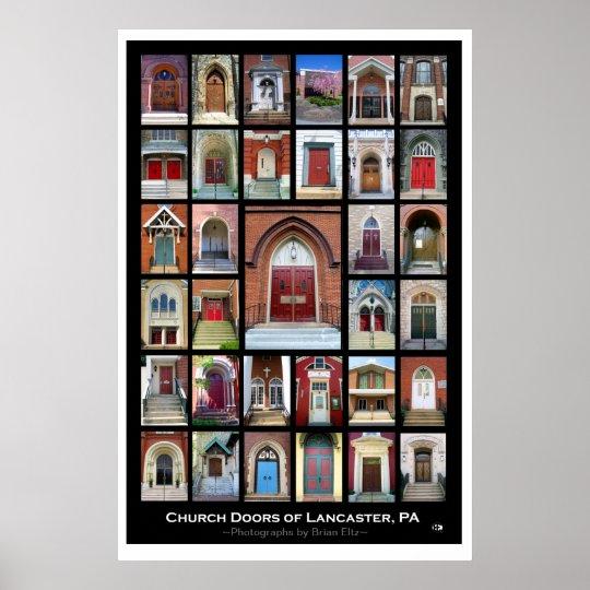 Quot Church Doors Of Lancaster Pa Quot 2nd Ed Poster Zazzle Com