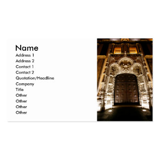 Church doorway at night business card