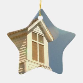 Church Double-Sided Star Ceramic Christmas Ornament