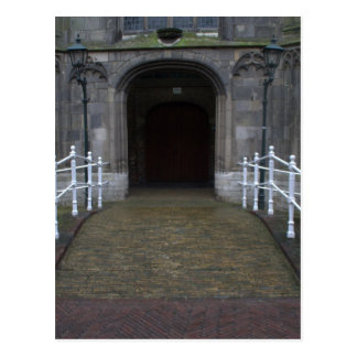 Church entrance postcard