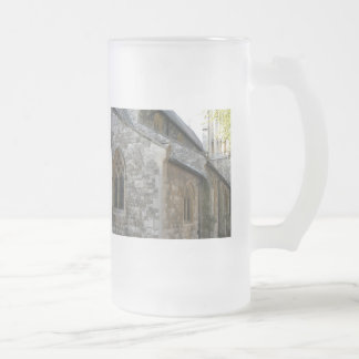 Church Frosted Glass Beer Mug