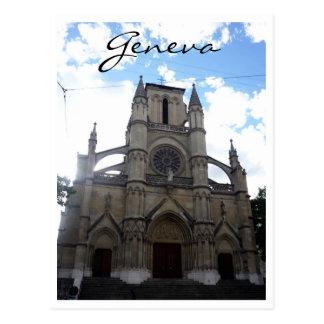 church geneva postcard