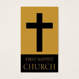 Church Gold/Black Business Card