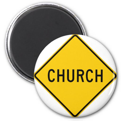 Church Highway Sign Magnet