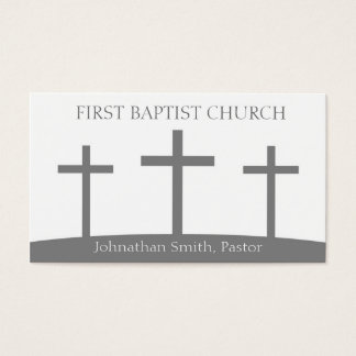 Church Holy Trinity Three Crosses Crucifixes Business Card