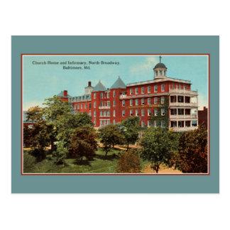 Church home, infirmary, N. Broadway, Baltimore MD Postcard