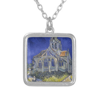 Church in Auvers-sur-Oise by Vincent Van Gogh Necklaces
