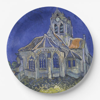 Church in Auvers-sur-Oise by Vincent Van Gogh Paper Plate