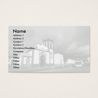 Church in Azores Business Card