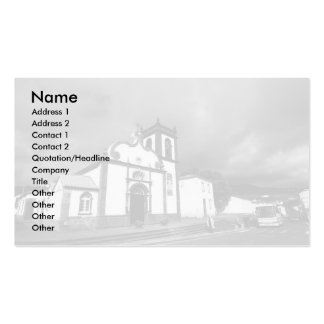 Church in Azores Double-Sided Standard Business Cards (Pack Of 100)