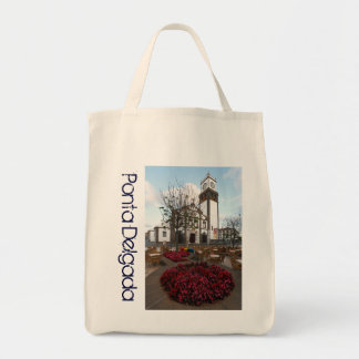 Church in Azores Grocery Tote Bag