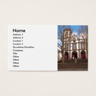 Church in Azores islands Business Card