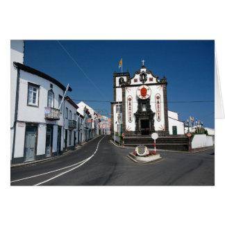 Church in Azores islands Card