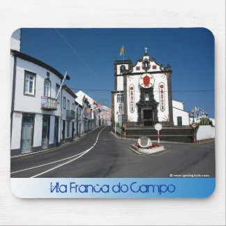 Church in Azores islands Mouse Pad