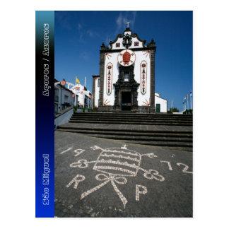Church in Azores islands Postcard