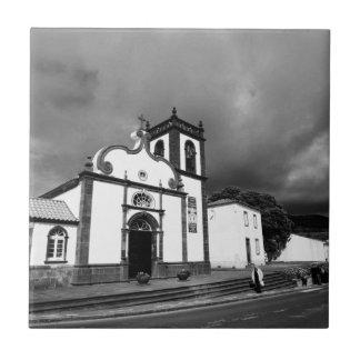 Church in Azores Ceramic Tile