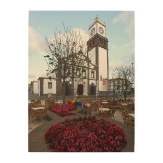 Church in Azores Wood Wall Decor