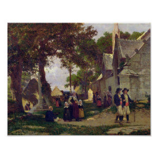 Church in Brittany Poster